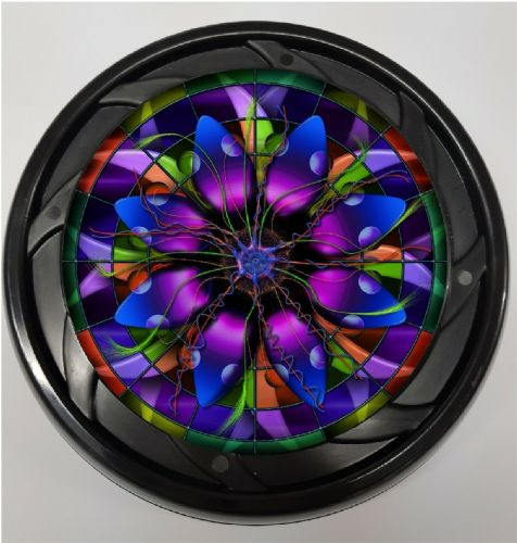 WHEELCHAIR & POWERCHAIR Personalised Spoke Guards STAIN GLASS Design